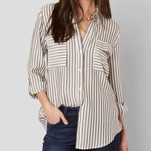 Sweet Wanderer Grey/Ivory Striped Shirt